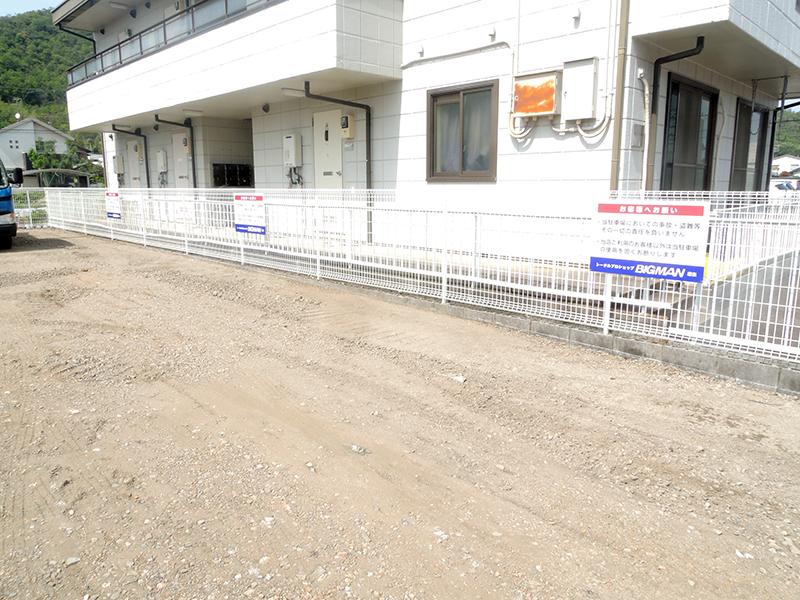 32 - ホビーショップ駐車場看板の設置を担当しました。