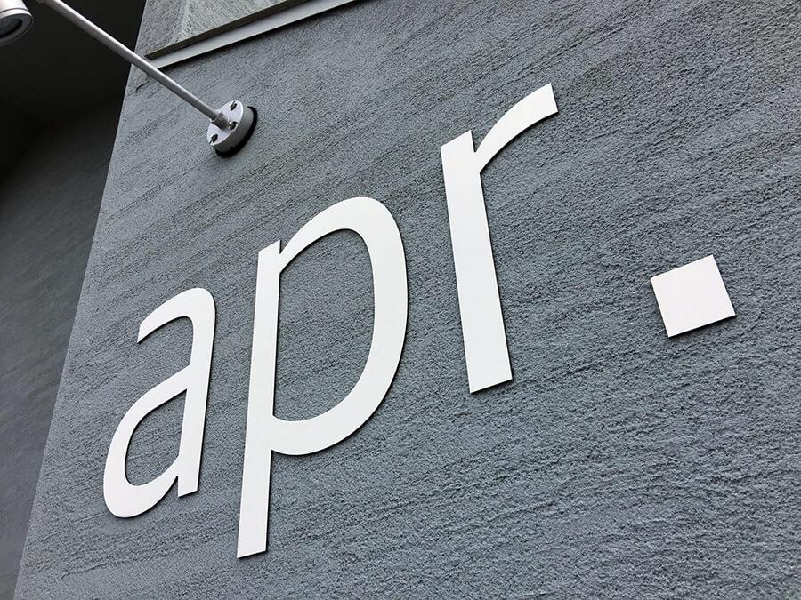 美容院 切り文字 看板 - 【岐阜県瑞穂市】新しくオープンされた美容院のロゴ切り文字看板・自立看板の看板施工を担当させて頂きました。