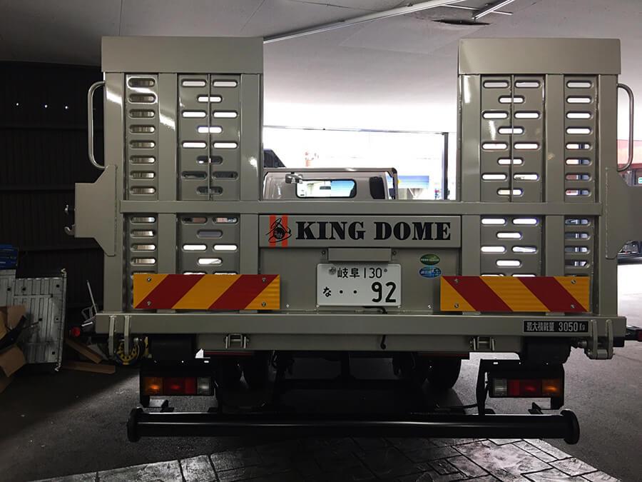 r020210 トラック 社名ロゴ カッティングシート - 【岐阜県岐阜市】トラック・積載車に社名ロゴ・ブランドロゴなどのカッティングシート貼りを担当しました。(3台目のご注文)